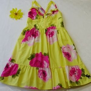 Abercrombie & Fitch Yellow Floral Sundress XS Size